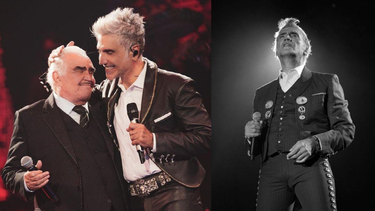 Alejandro Fernández se QUIEBRA en pleno concierto y LLORA por Vicente Fernández